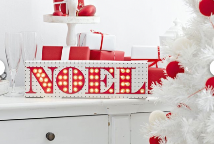 50% OFF Party Illuminations Noel Light Up Sign